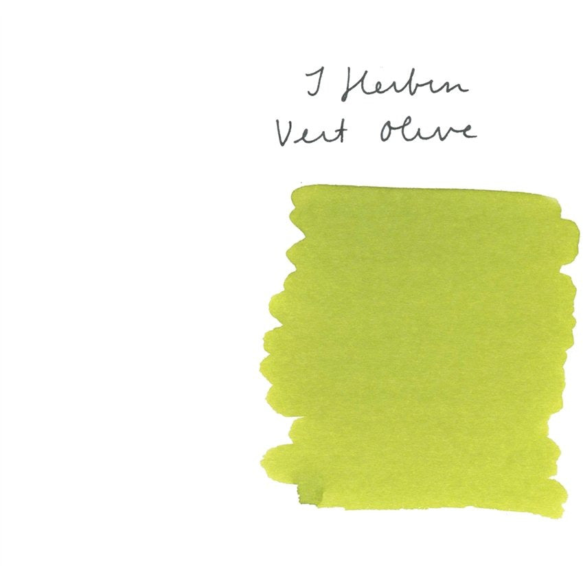 <center>J. Herbin Fountain Pen Ink (30mL) - Vert Olive</center>