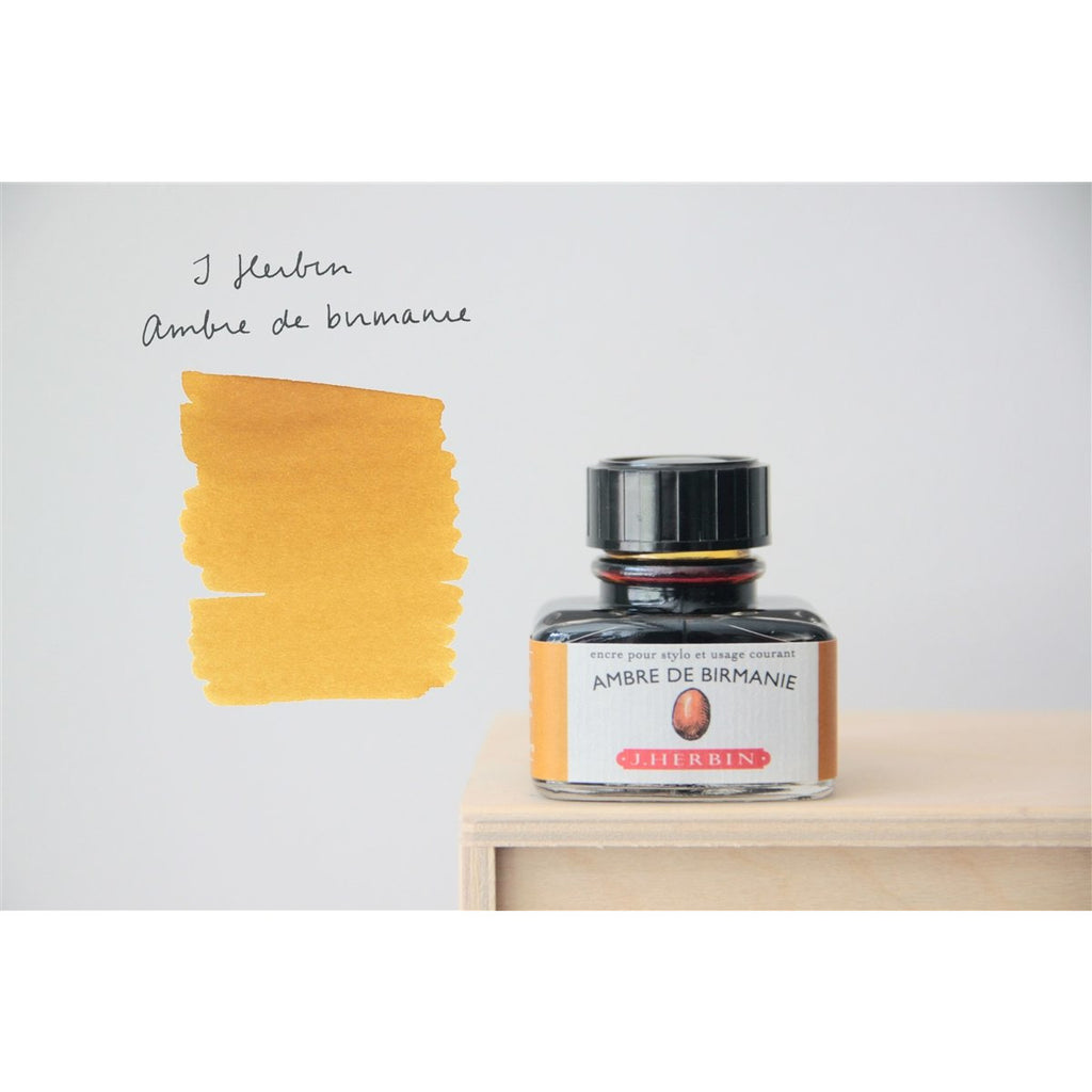 <center>J. Herbin Fountain Pen Ink (30mL) - Ambre De Birmanie</center>