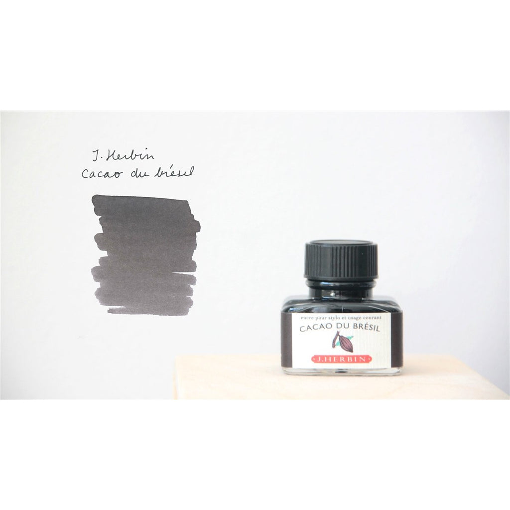 <center>J. Herbin Fountain Pen Ink (30mL) - Cacao Du Bresil</center>