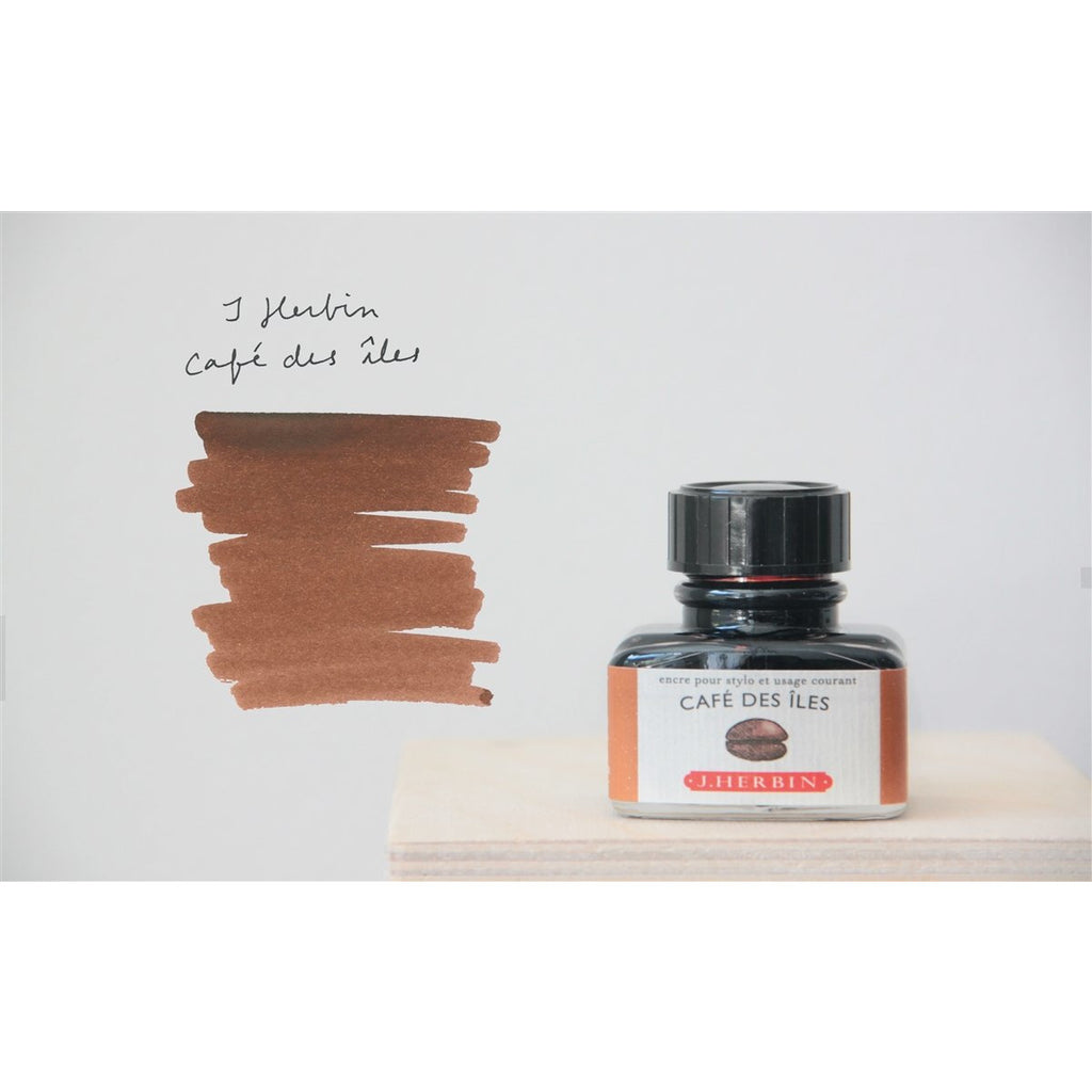 <center>J. Herbin Fountain Pen Ink (30mL) - Cafe Des Iles</center>