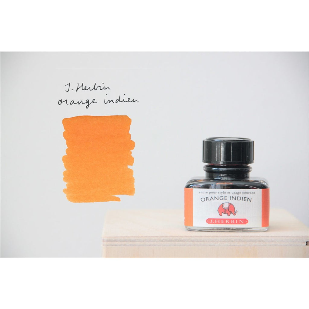 <center>J. Herbin Fountain Pen Ink (30mL) - Orange Indien</center>