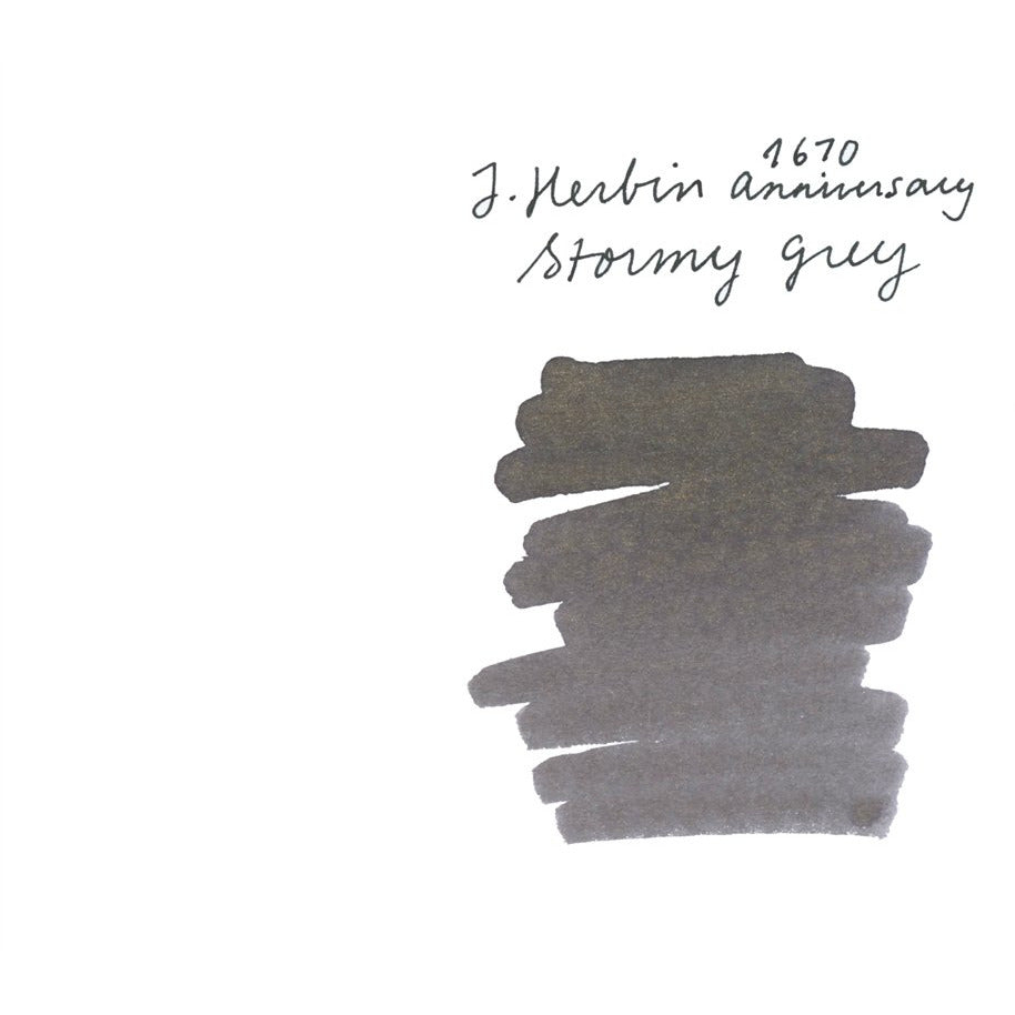 <center>J. Herbin 1670 Anniversary Fountain Pen Ink (50mL) - Stormy Grey</center>