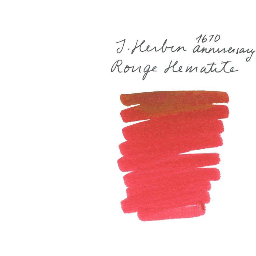 <center>J. Herbin 1670 Anniversary Fountain Pen Ink (50mL) - Rouge Hematite</center>