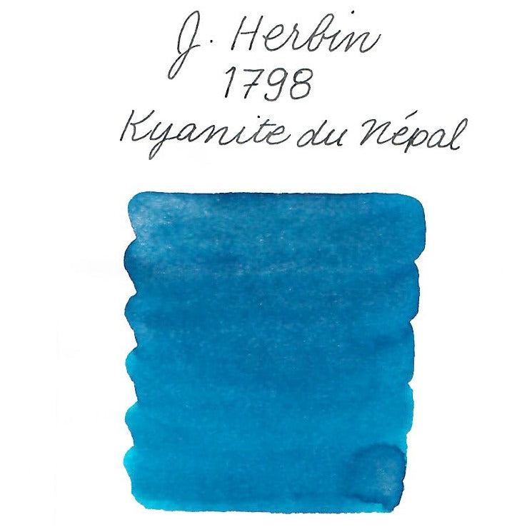 <center>J. Herbin 1798 Anniversary Fountain Pen Ink (50mL) - Kyanite du Nepal</center>