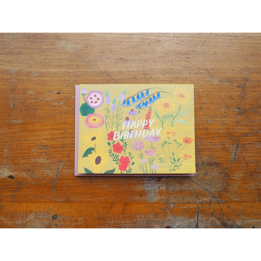 <center>Small Adventure - Birthday Card - Yellow Floral Birthday</center>