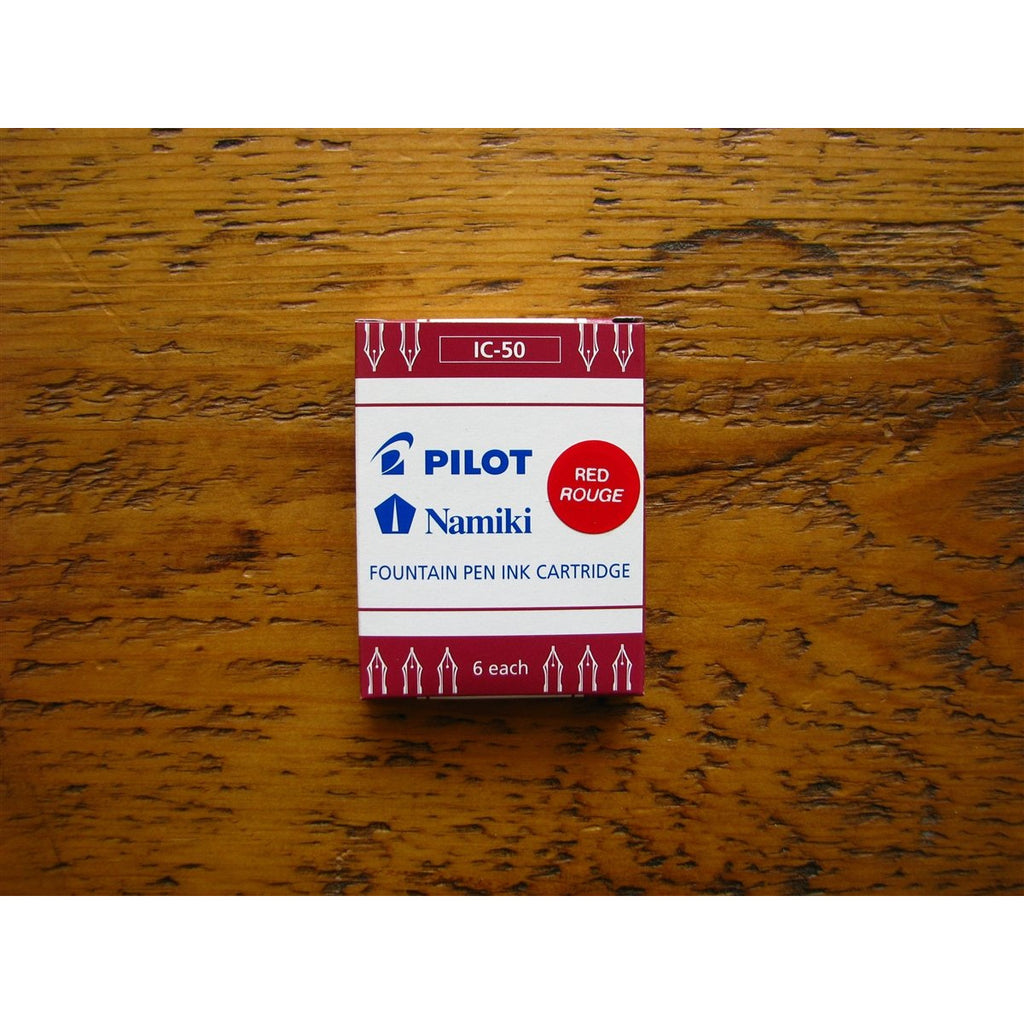 <center>Pilot Ink Cartridges -  Red</center>