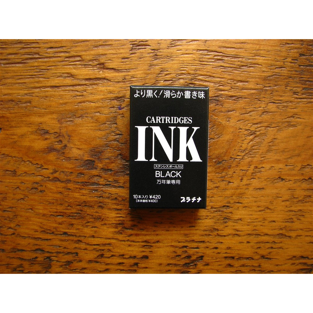 <center>Platinum Ink Cartridges - Black (Box of 10)</center>