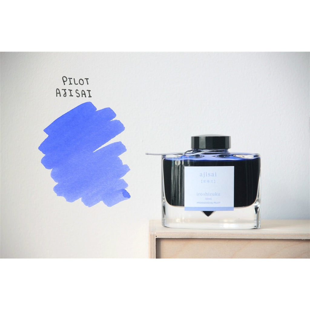 <center>Pilot Iroshizuku Fountain Pen Ink - Ajisai 50mL</center>