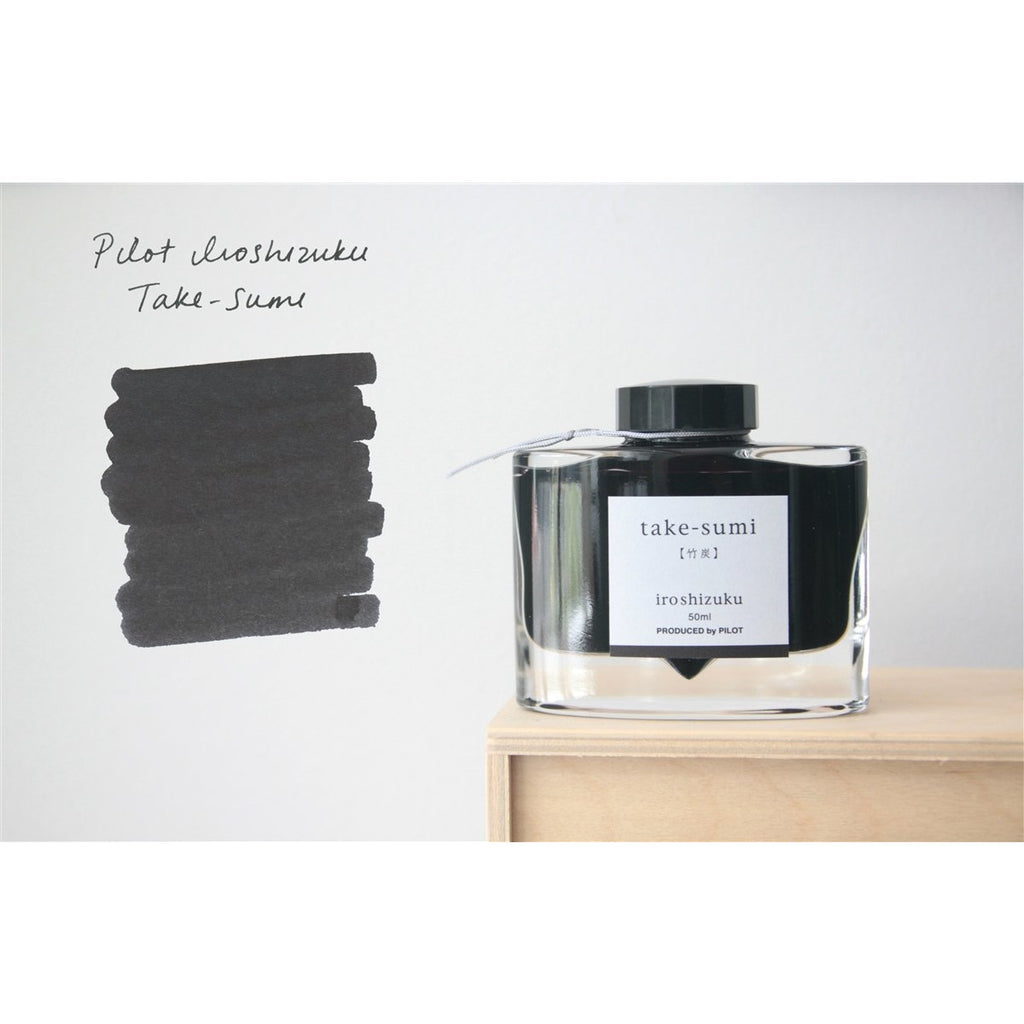 <center>Pilot Iroshizuku Fountain Pen Ink - Take-sumi 50mL</center>