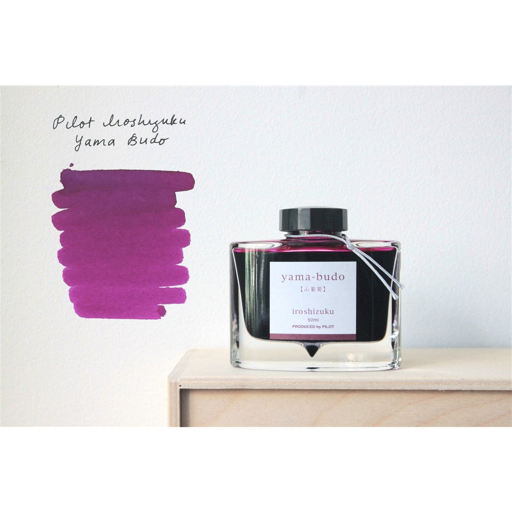 <center>Pilot Iroshizuku Fountain Pen Ink - Yama-budo 50mL</center>