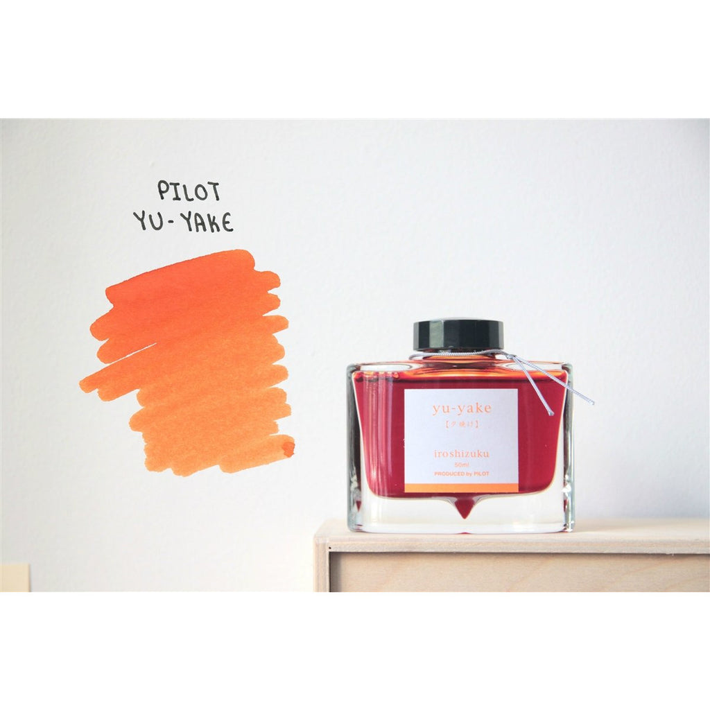 <center>Pilot Iroshizuku Fountain Pen Ink - Yu-Yake 50mL</center>