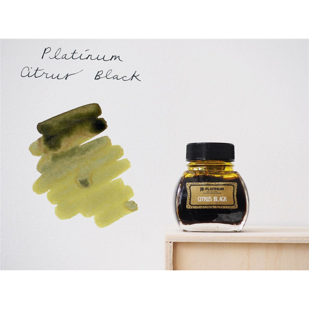 <center>Platinum Classic Iron Gall Fountain Pen Ink (60 ml) - Citrus Black</center>