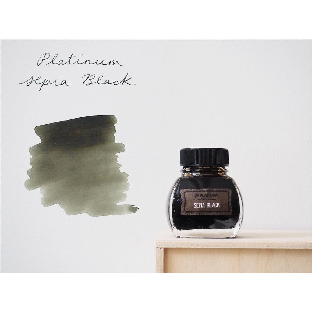 <center>Platinum Classic Iron Gall Fountain Pen Ink (60 ml) - Sepia Black</center>