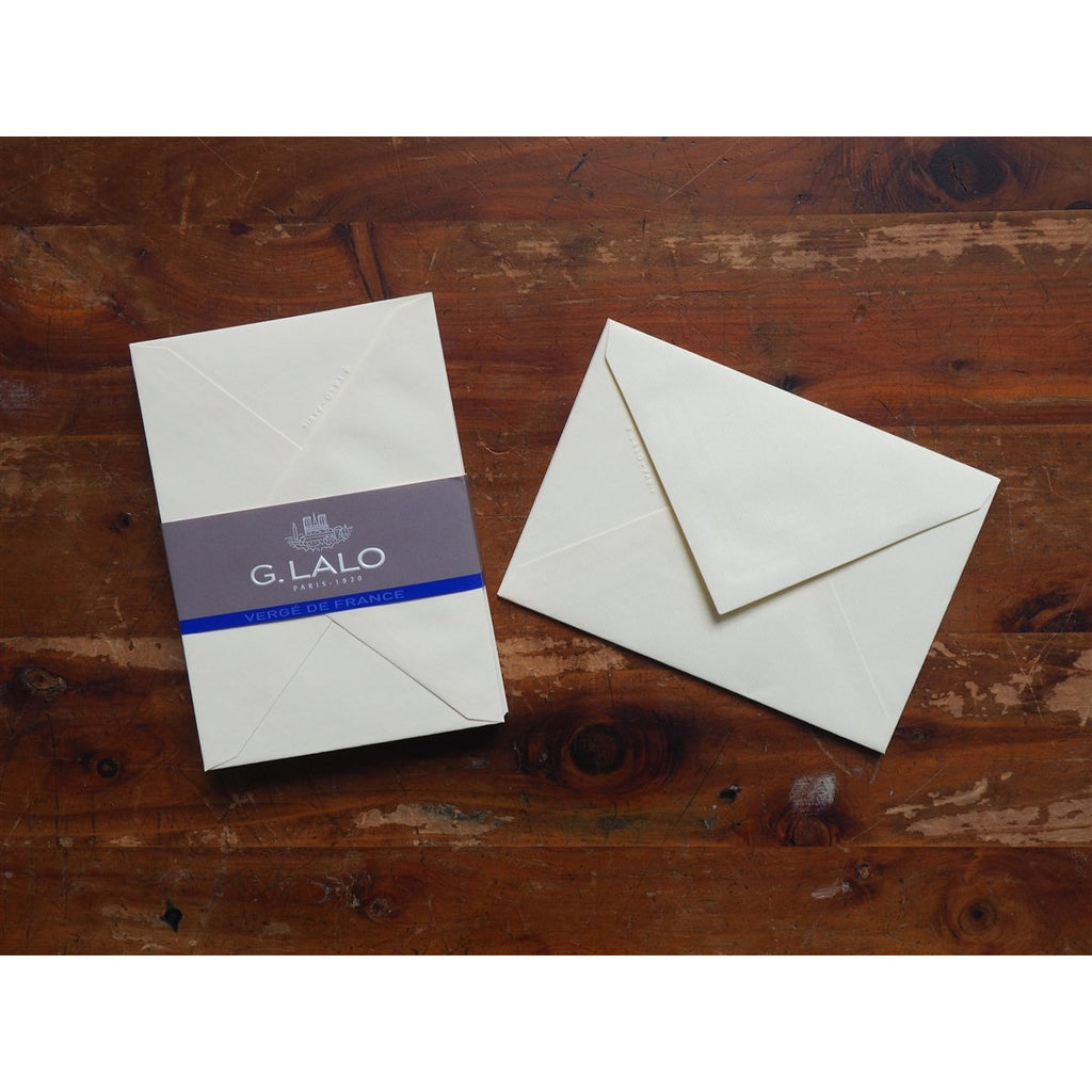 <center>G. Lalo Verge de France - Ivory Envelopes (for A5)</center>