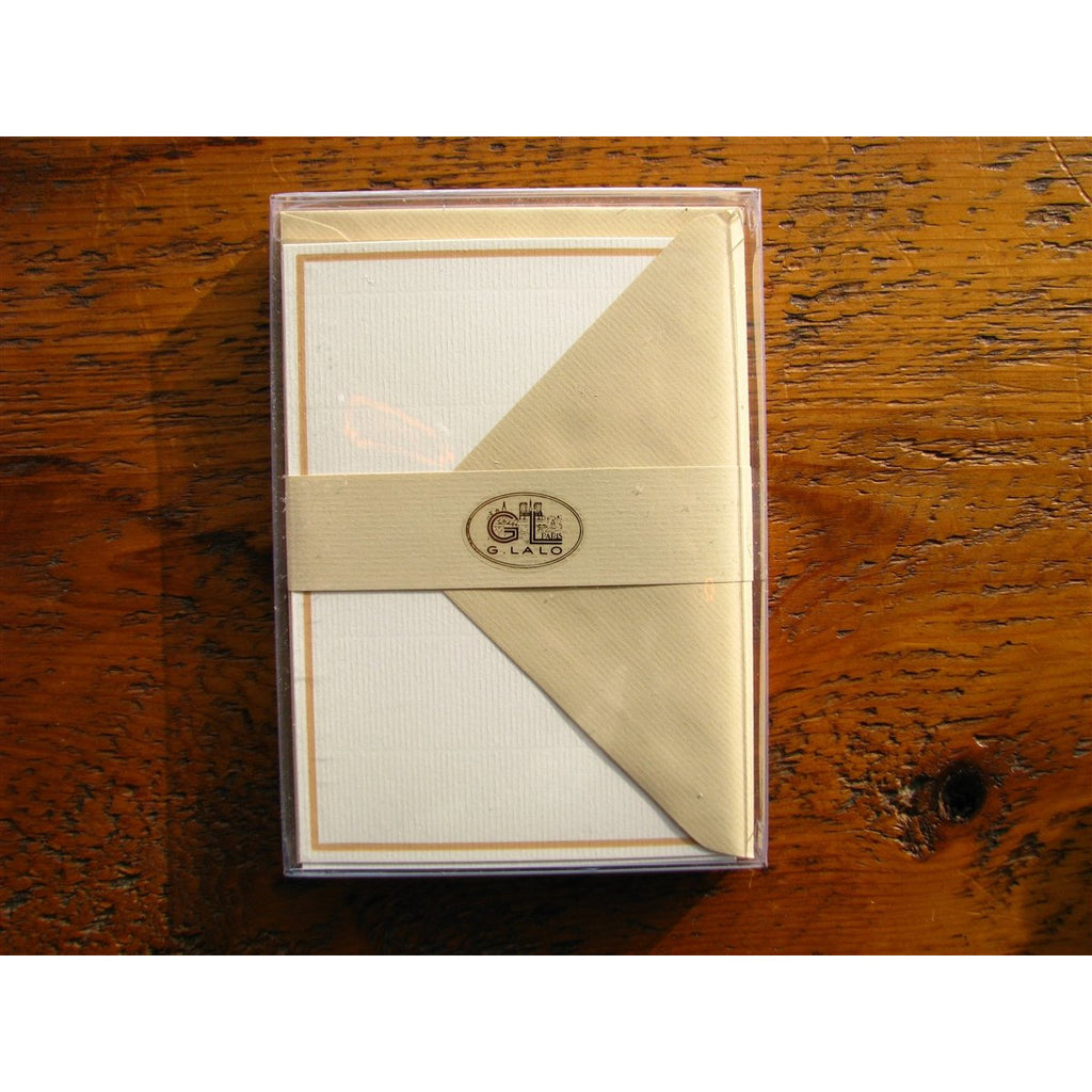 <center>G. Lalo Notecard and Envelope - Champagne (4 x 6 inches)</center>