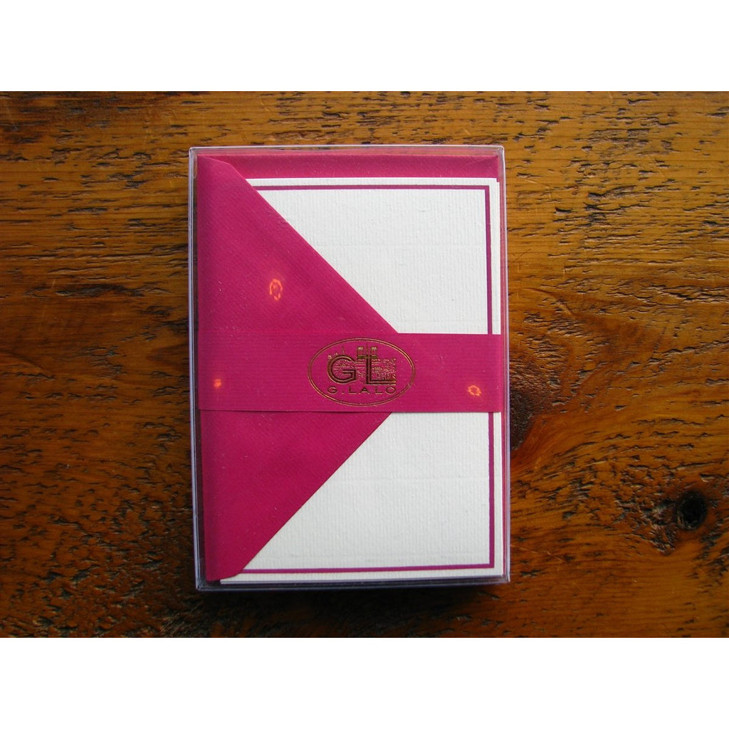 <center>G. Lalo Notecard and Envelope - Raspberry (4 x 6 inches)</center>