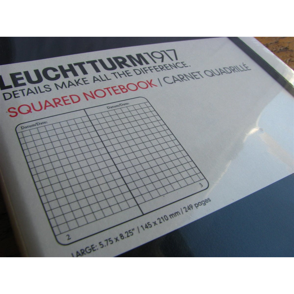 <center>Leuchtturm Hardcover A5 Notebook - Black (Grid)</center>