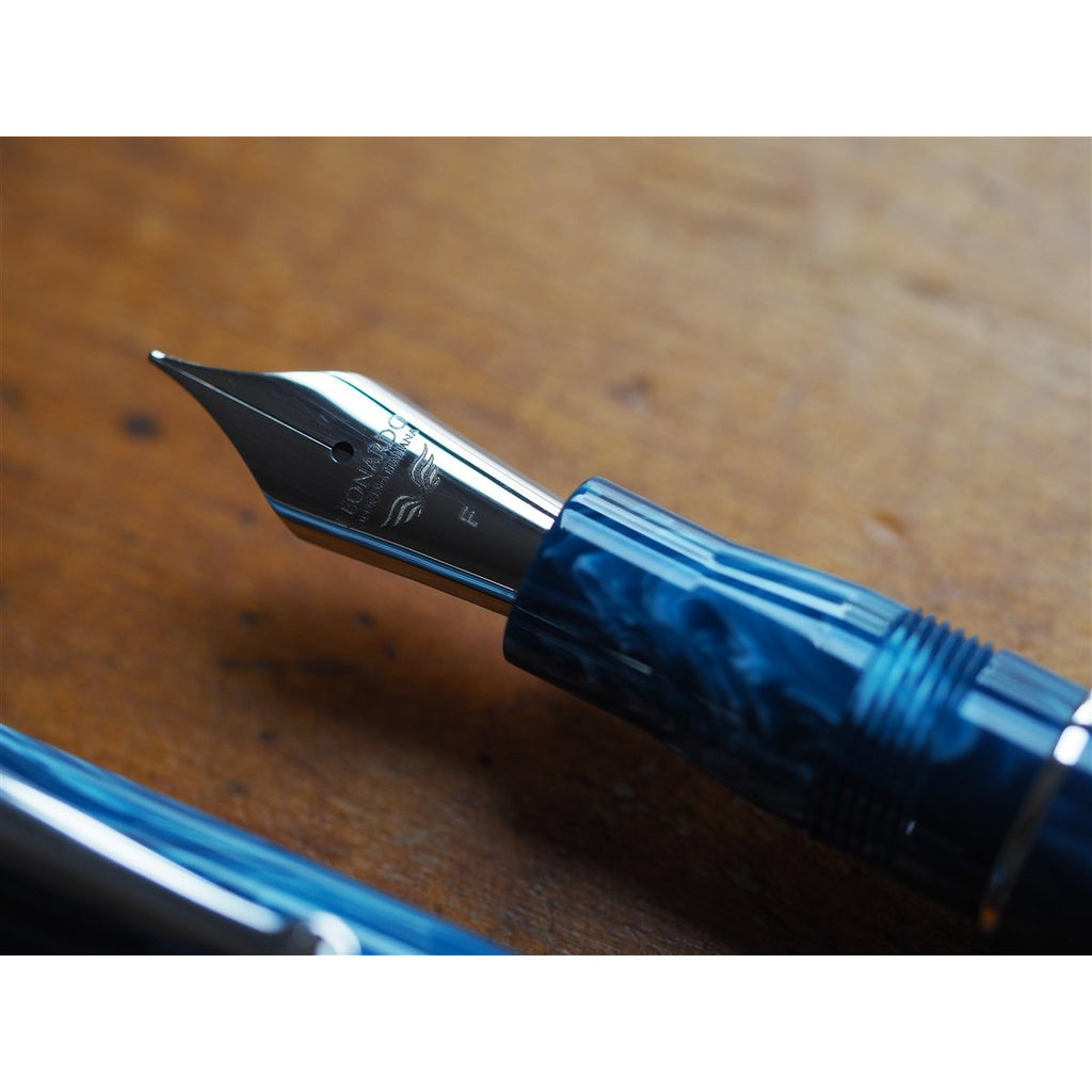 <center>Leonardo Momento Zero Fountain Pen - Positano Resin - Silver Trim</center>