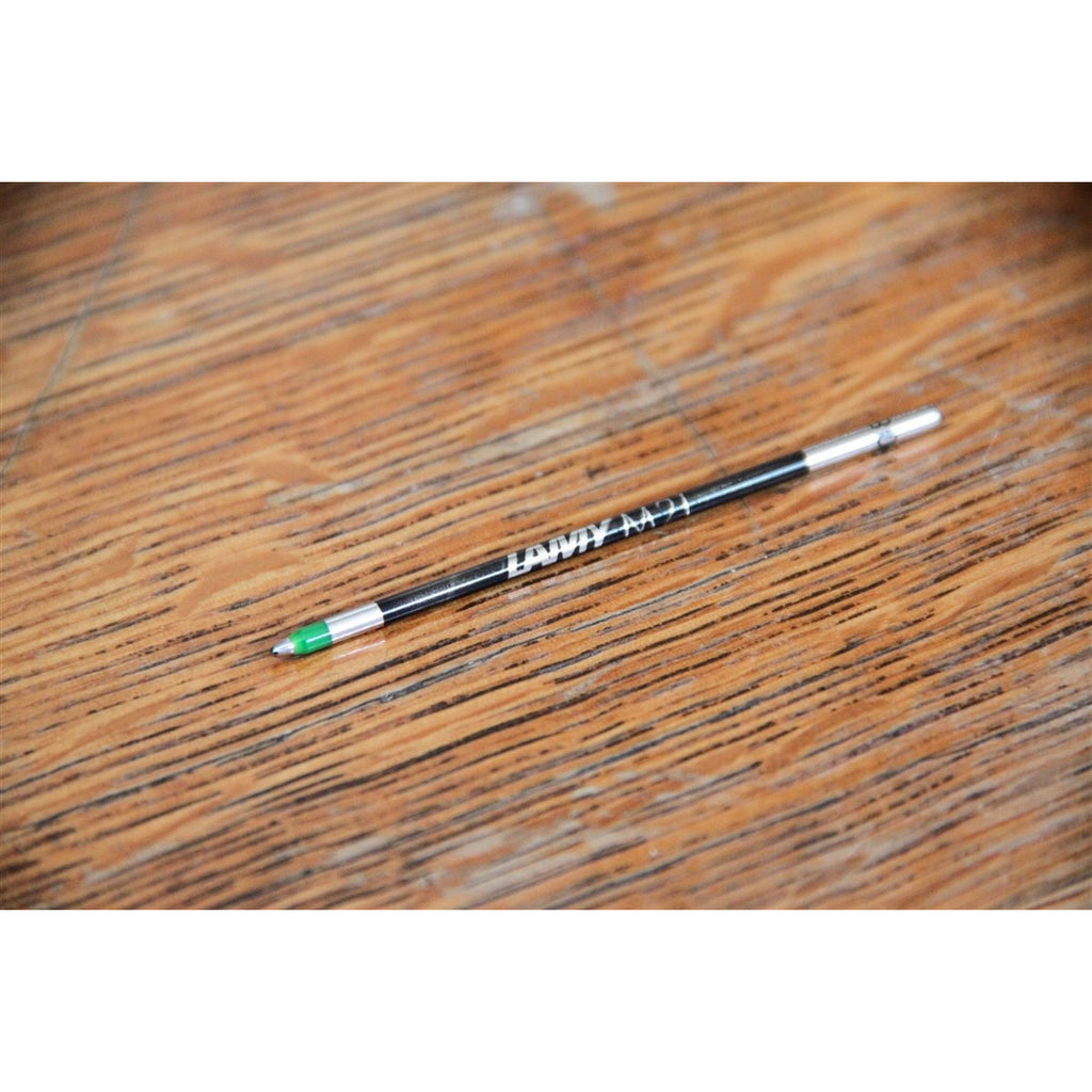 <center>Lamy M21 Ballpoint Refill - Green (Compatible with Lamy 2000 4-Colour Ballpoint pen)</center>