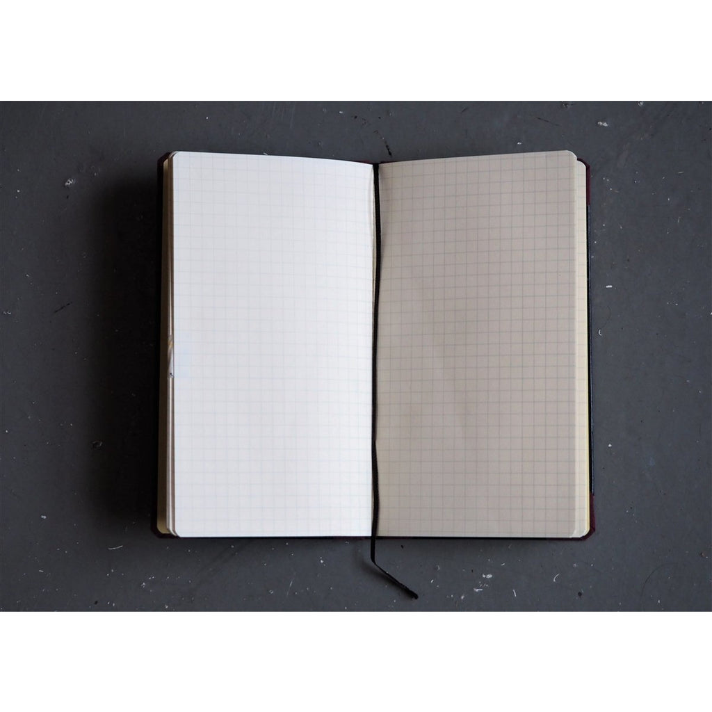 <center>Life Japanese Stationery Book Binding Corner Notebook (16.7 x 10 cm) - Graph</center>