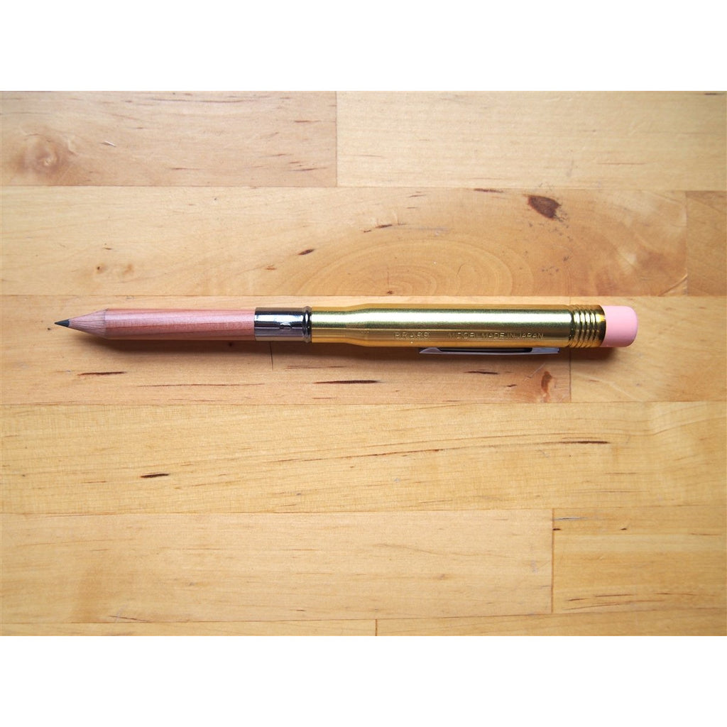 <center>Traveler's Company Brass Bullet Pencil Holder</center>