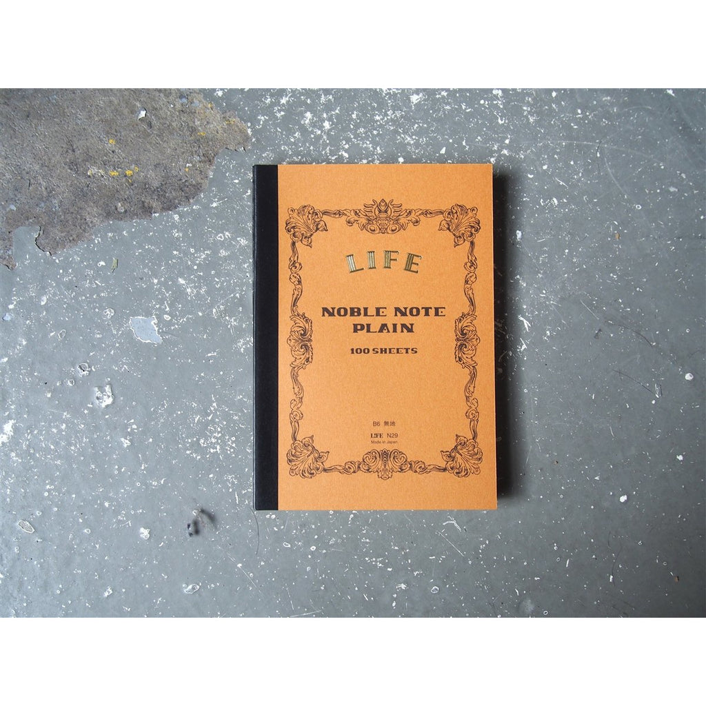 "<center>Life Stationery ""Noble Note"" Plain Notebook - B6</center>"