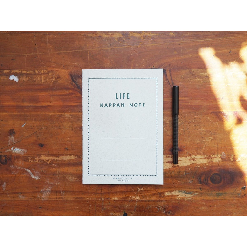 <center>Life Japanese Stationery Kappan Notebook A5 - Lined</center>