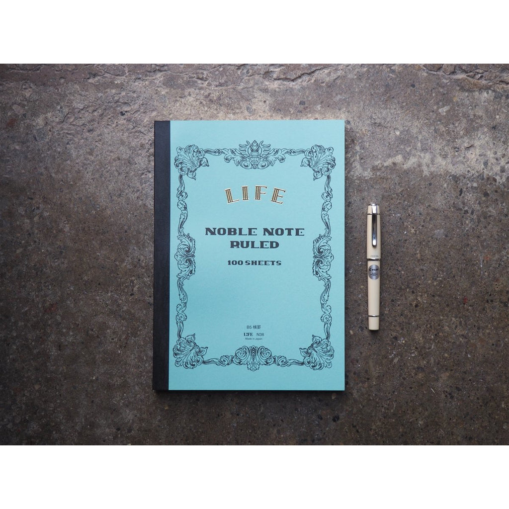 "<center>Life Stationery ""Noble Note"" Lined Notebook - B5</center>"