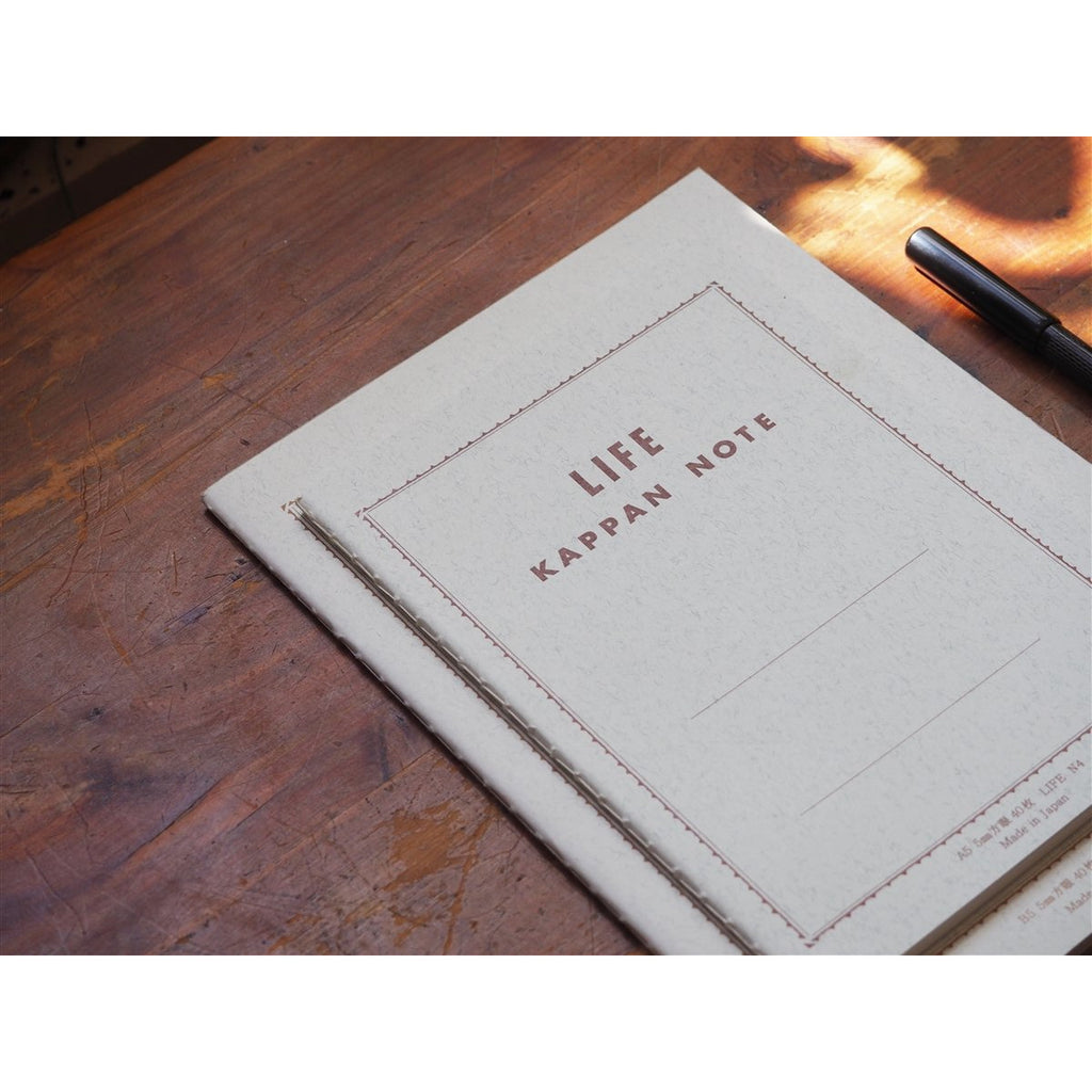 <center>Life Japanese Stationery Kappan Notebook A5 - Grid</center>