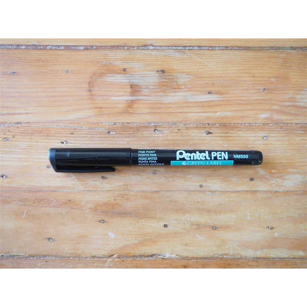 <center>Pentel Green Label Fine Marker Pen - Black</center>