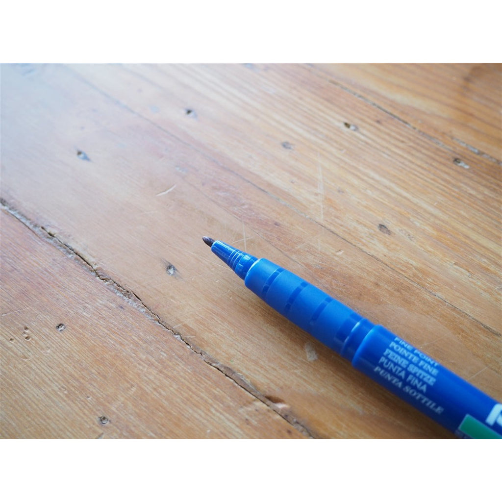 <center>Pentel Green Label Fine Marker Pen - Blue</center>
