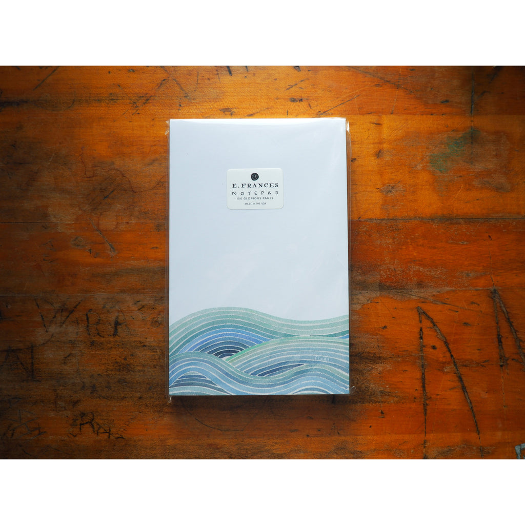 E. Frances Paper - Notepad - Waves