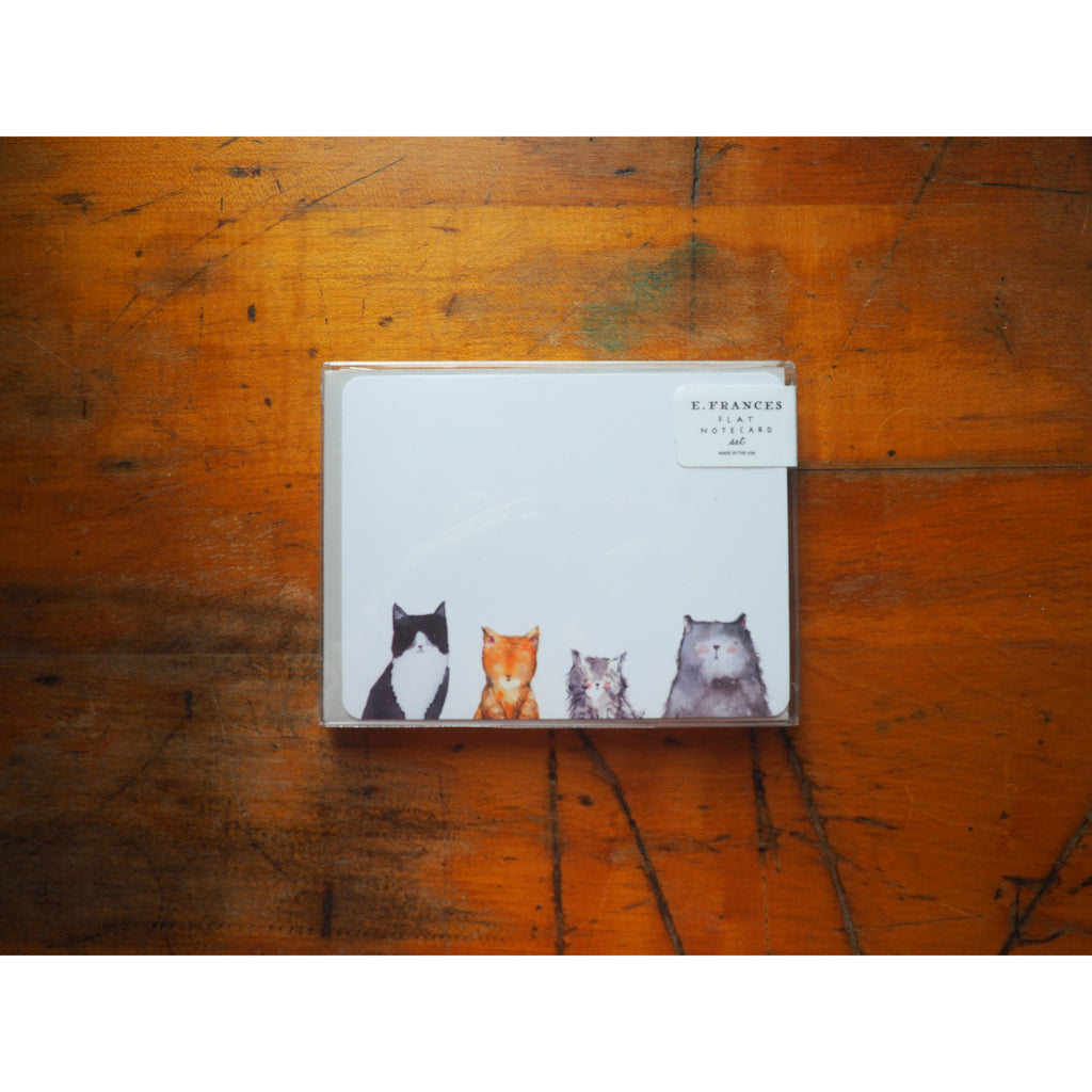 E. Frances Paper - 8 Flat Notecard Set - Cat's Meow