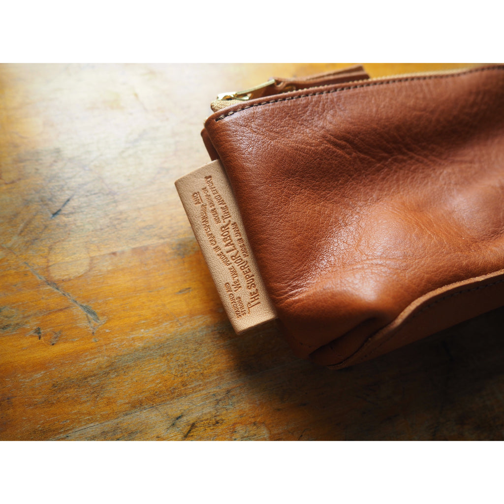 <B>PRE-ORDER</B> - The Superior Labor Leather Pouch - Light Brown