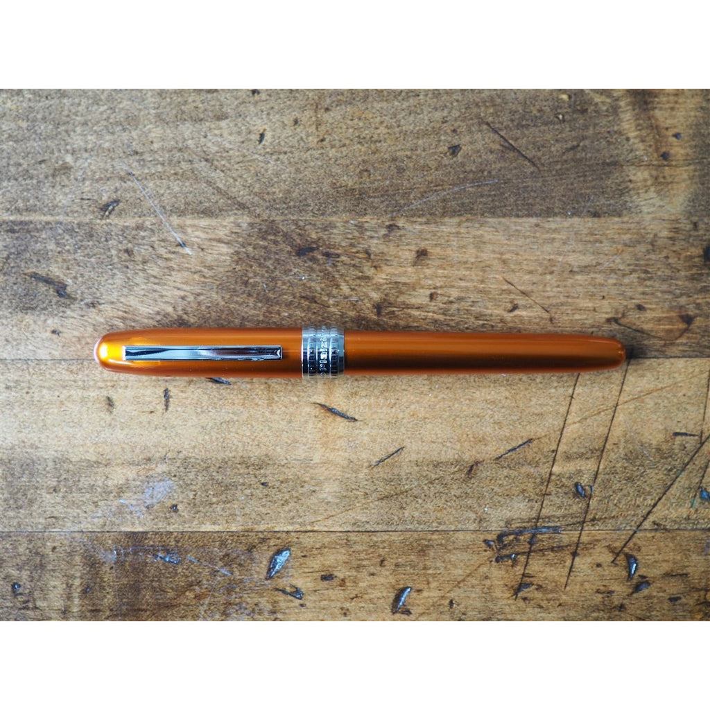 <center>Platinum Plaisir Fountain Pen - Nova Orange</center>