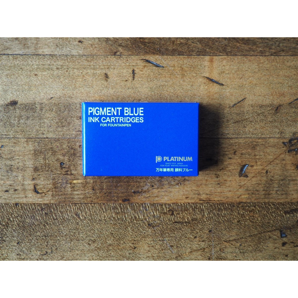 <center>Platinum Pigment Ink Cartridges - Blue (Box of 10)</center>