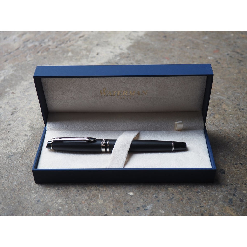<center>Waterman Expert3 Fountain Pen - Matte Black with Silver Trim</center>