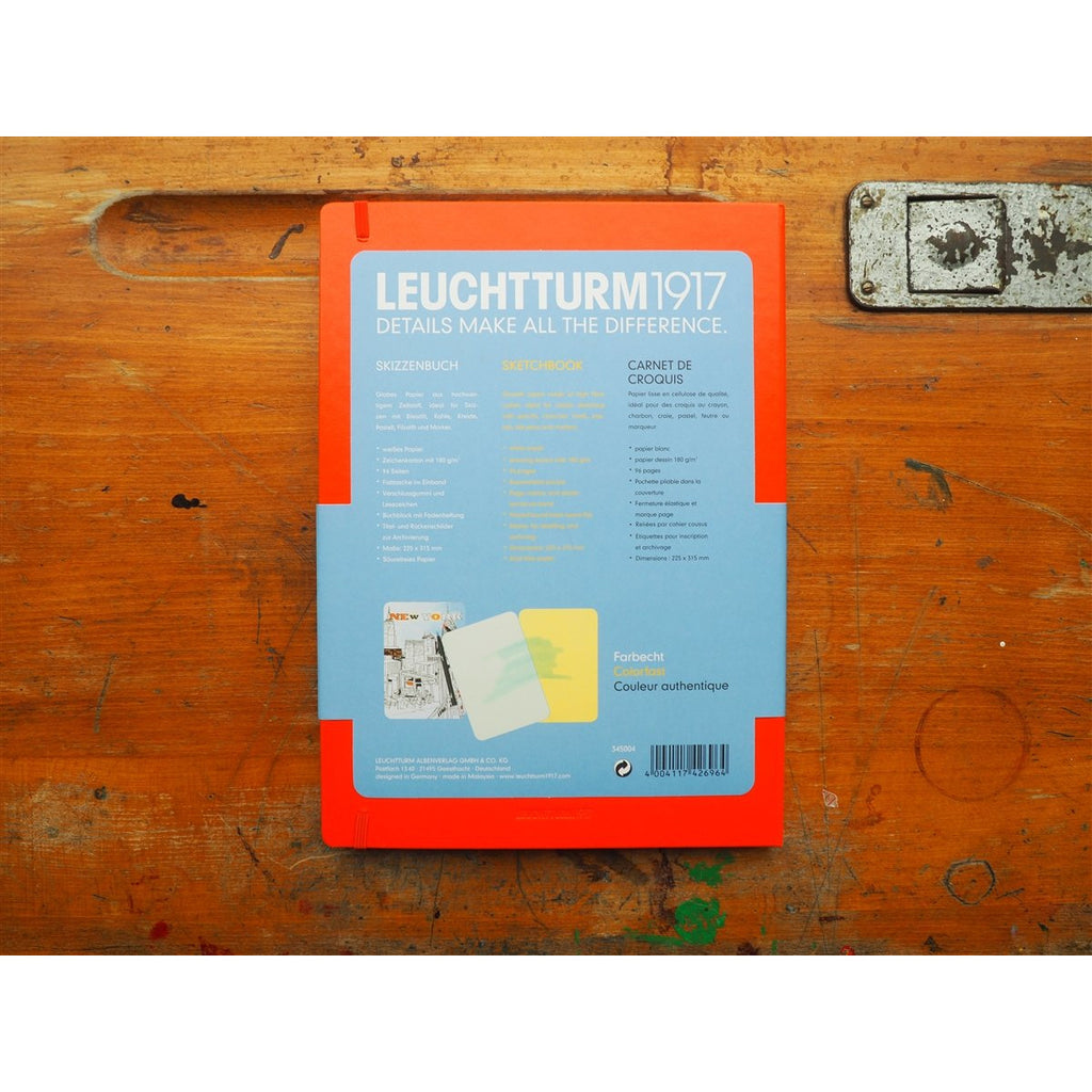 <center>Leuchtturm Hardcover A4+ Sketchbook - Orange</center>