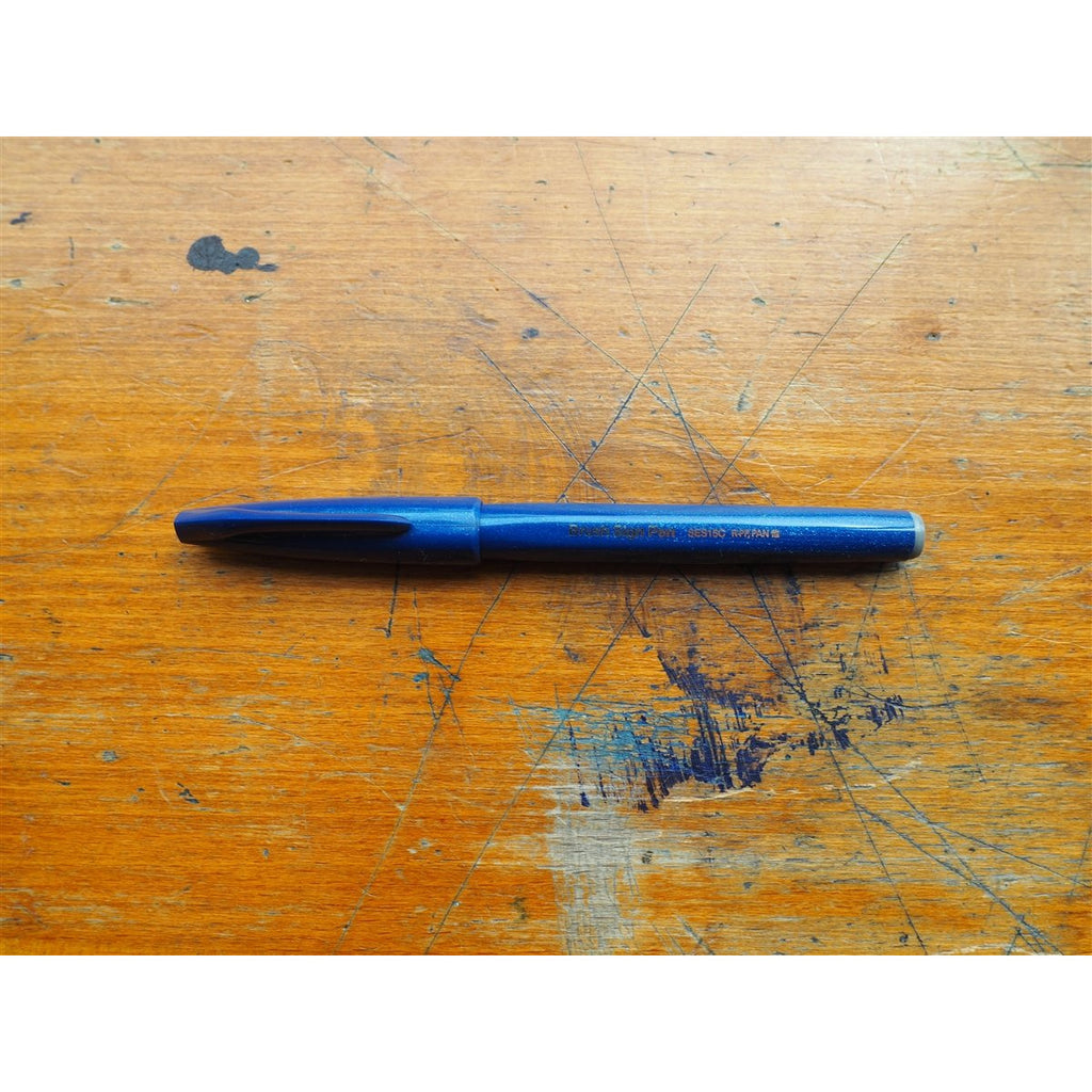 <center>Pentel Brush Sign Pen - Blue-Black</center>