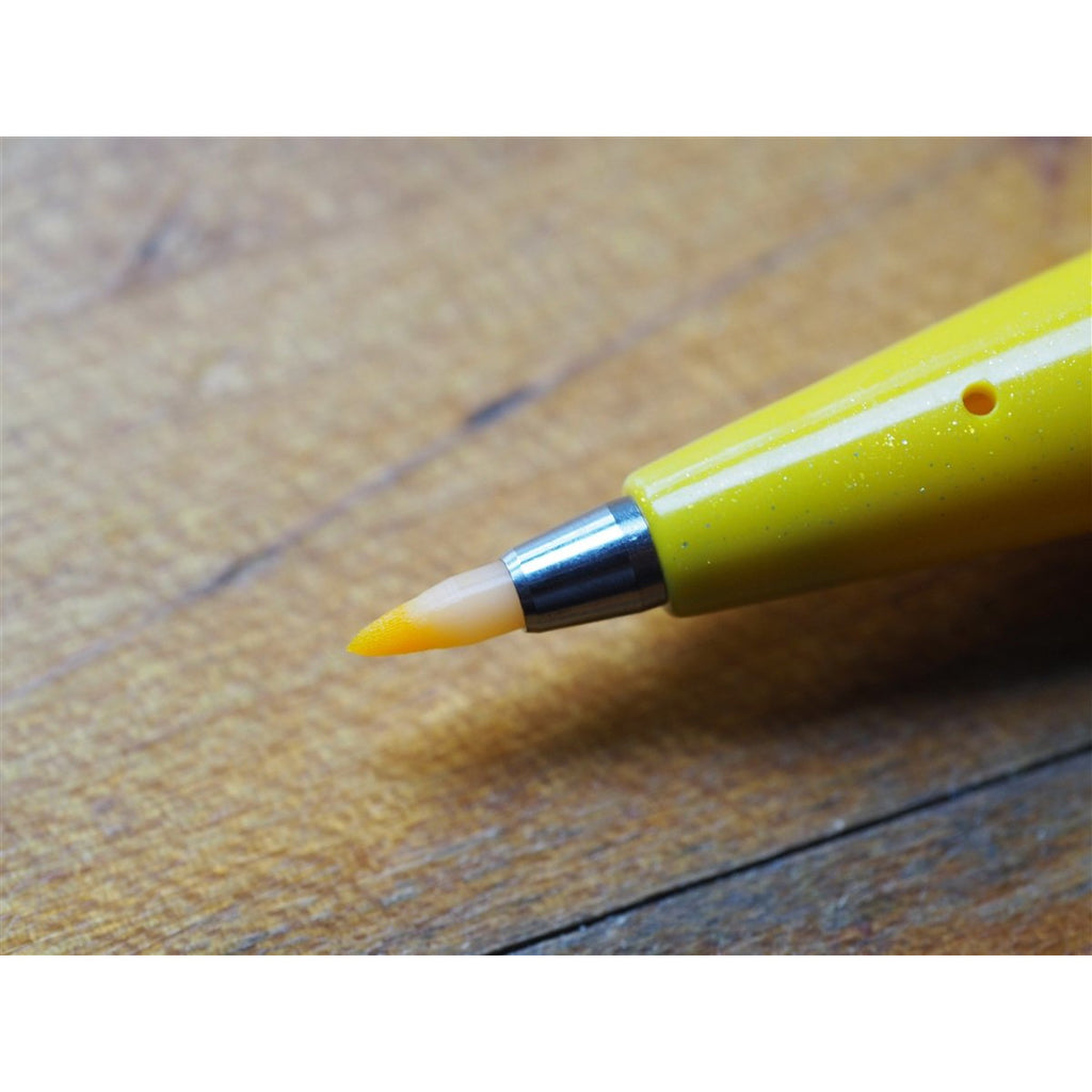 <center>Pentel Fude Touch Brush Pen - Yellow</center>