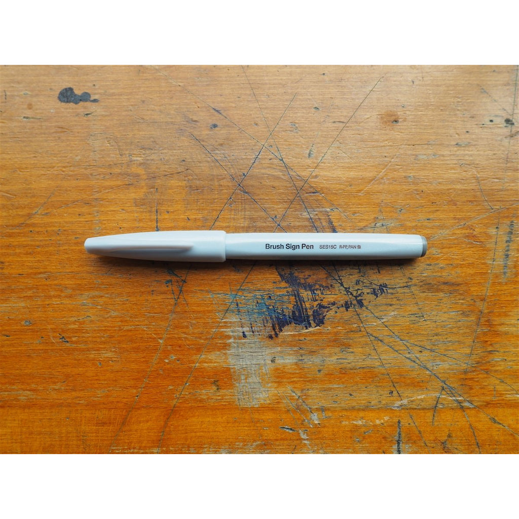<center>Pentel Brush Sign Pen - Light Grey</center>