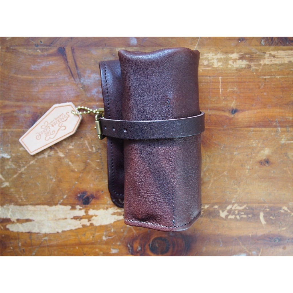 <center>The Superior Labor Leather Pen Roll - Dark Brown</center>