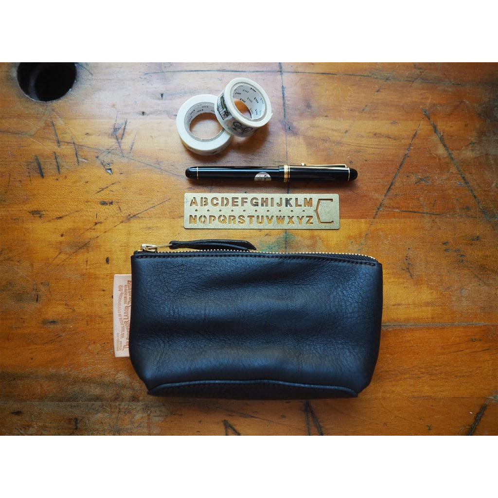 <center>The Superior Labor Leather Pouch - Black</center>