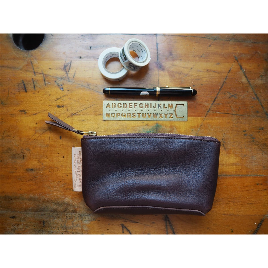 <center>The Superior Labor Leather Pouch - Dark Brown</center>