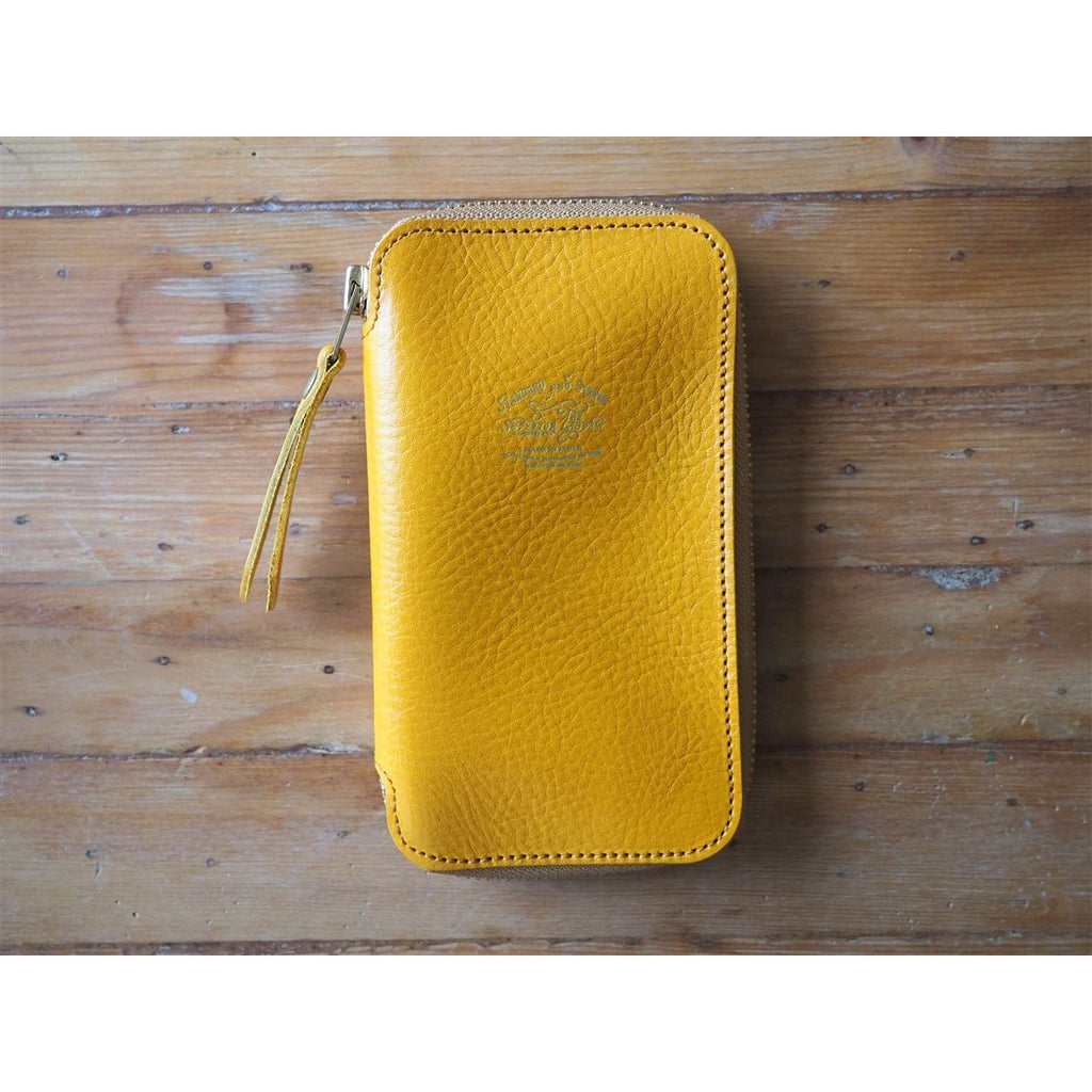 <center>The Superior Labor Leather Pen Zip Case - Yellow</center>
