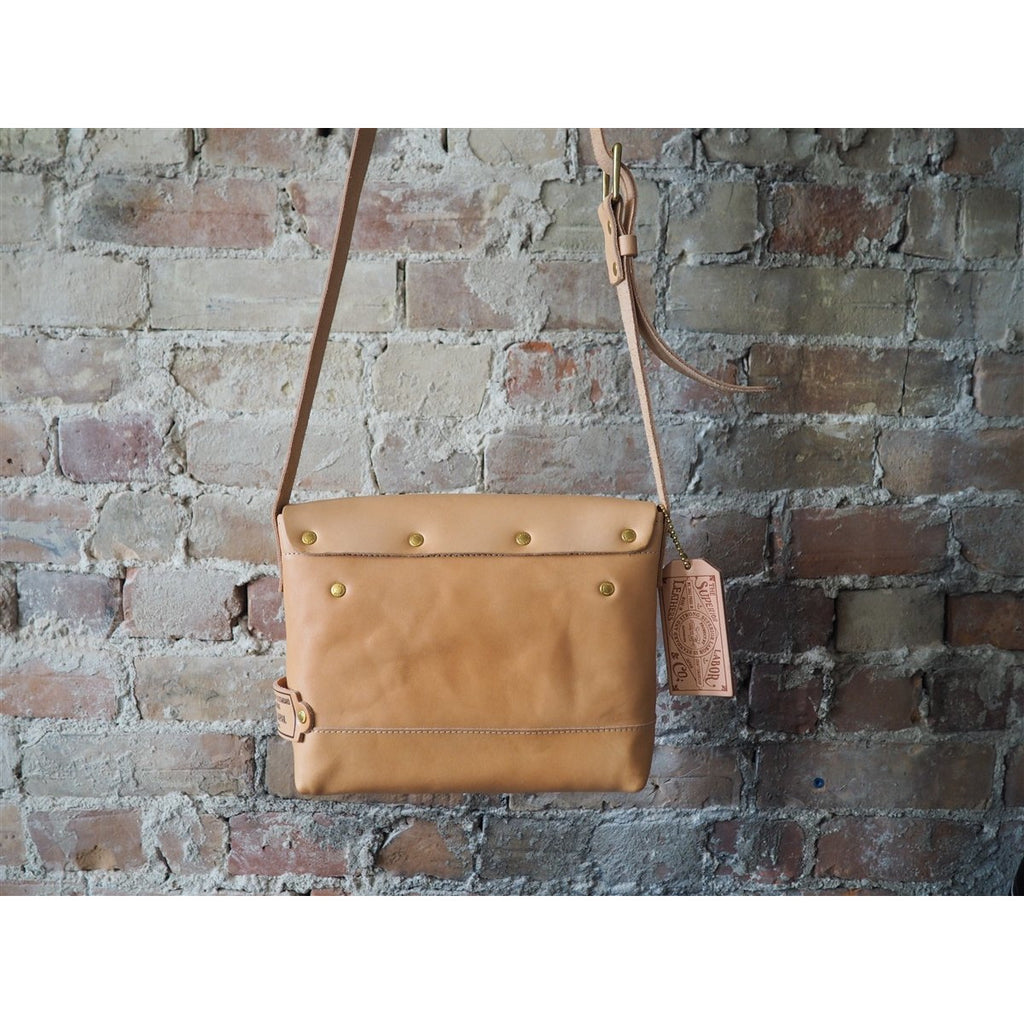 <center>The Superior Labor Leather Small Shoulder Bag - Natural</center>