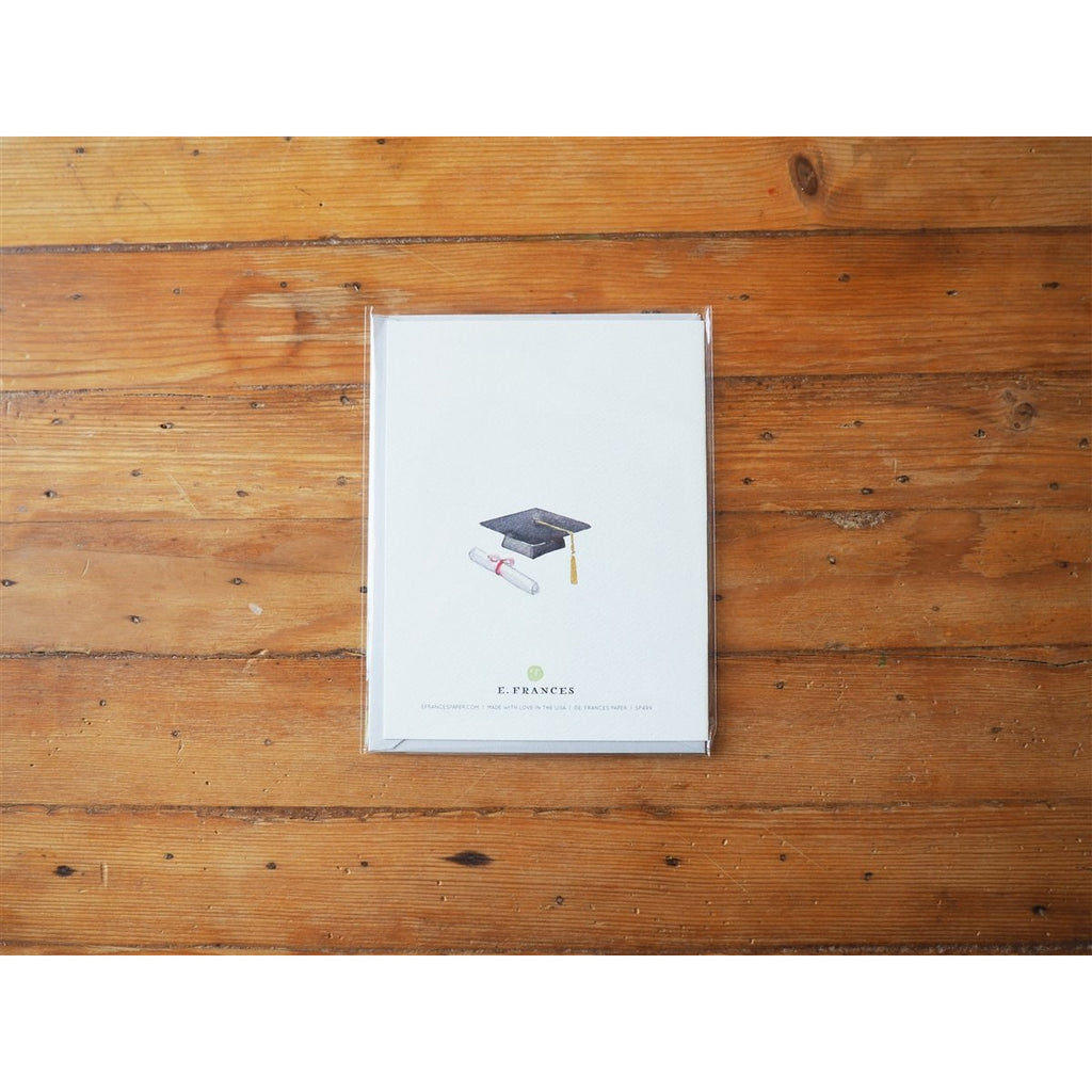 <center>E. Frances Paper - Congratulations Card - Grad Book Stack</center>
