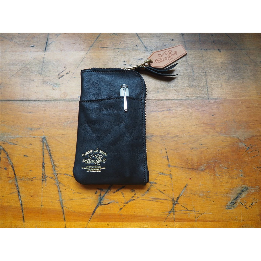 <center>The Superior Labor  Leather Pen and Wallet Case - Black</center>