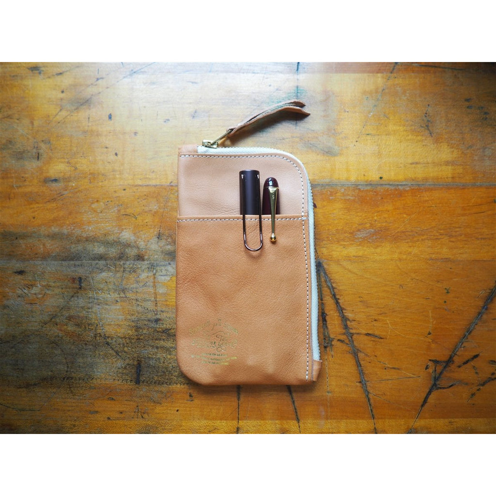<center>The Superior Labor  Leather Pen and Wallet Case - Natural</center>