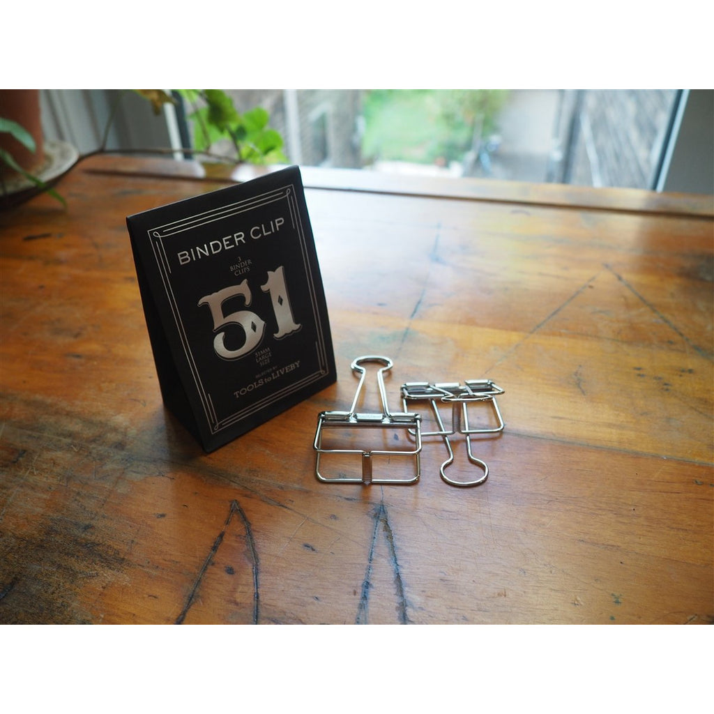 <center>TOOLS to LIVEBY - Binder Clip 51mm - Silver</center>